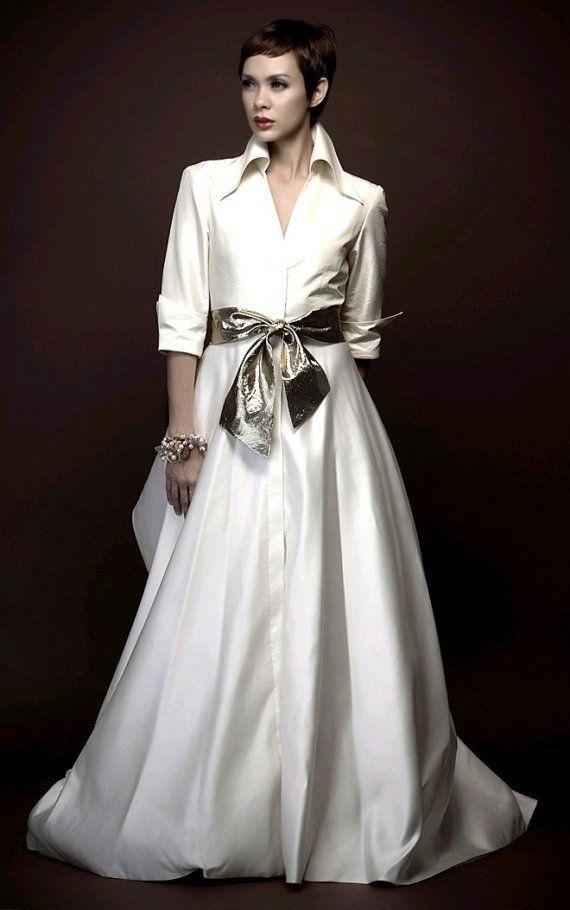 Shirtdress Style Wedding Dress Homage To Carolina Herrera