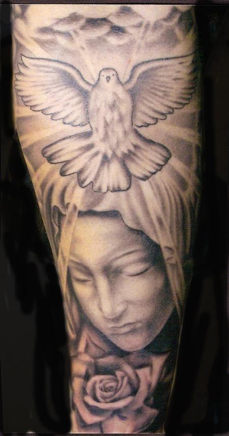Religious Sleeve Tattoos 15