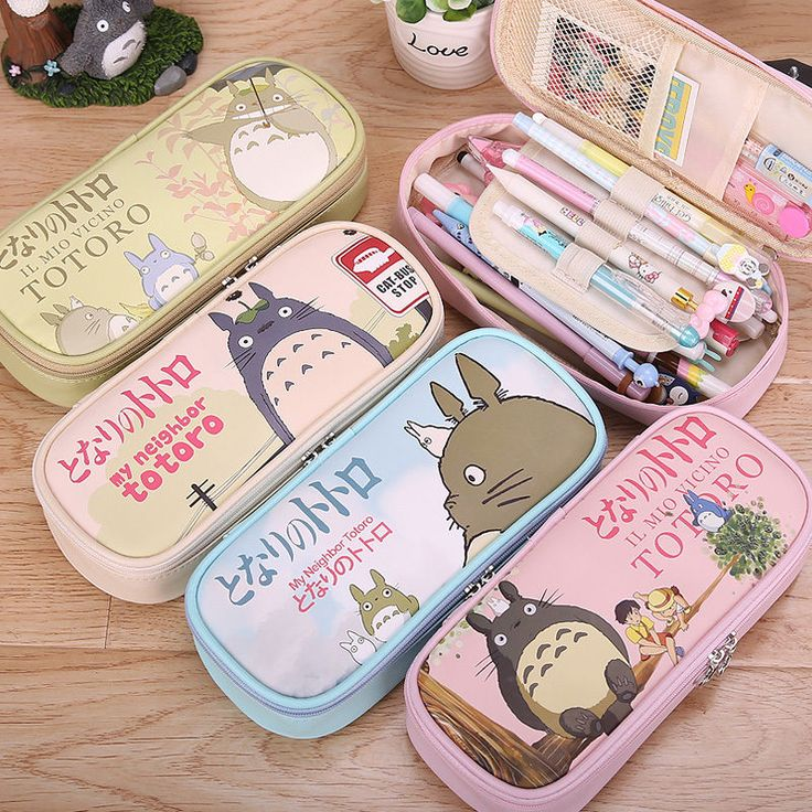 My Neighbor Totoro Pen Pencil Case Stationary Pouch Bag Makeup Bag