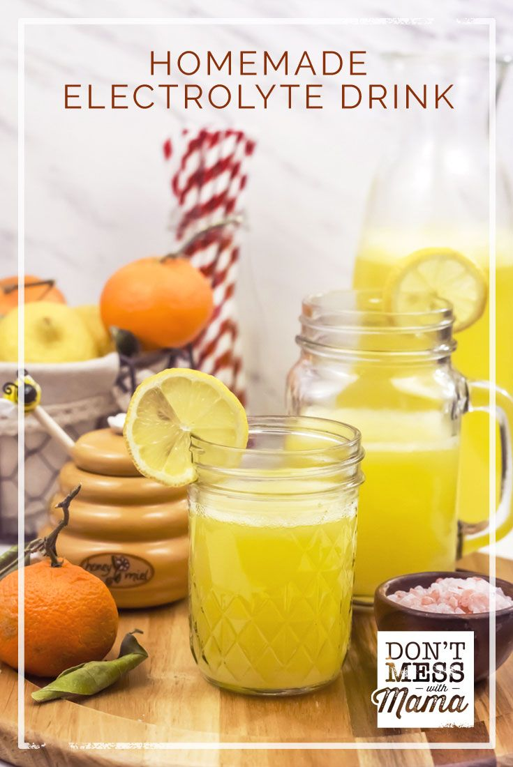 Got a cold or the flu? Need to rehydrate? Or play a lot of sports and looking for a healthy alternative? Try this Homemade Electrolyte Drink. via @dontmesswithmom