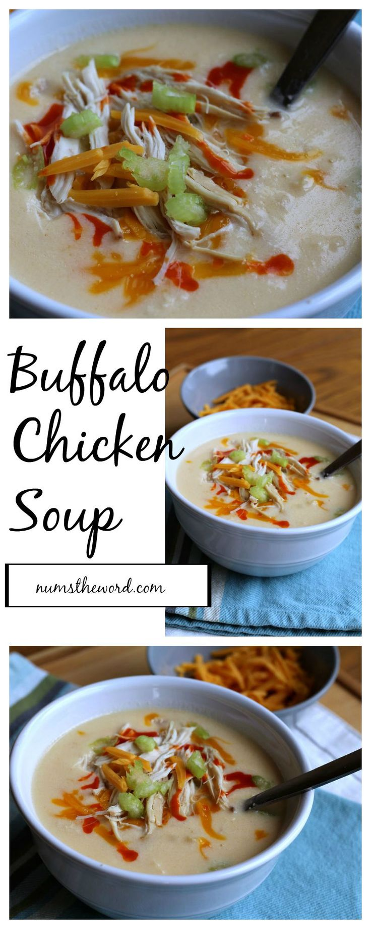 Buffalo Chicken Soup - creamy and just a bit spicy chicken soup that's ready in less than 30 minutes! Score!
