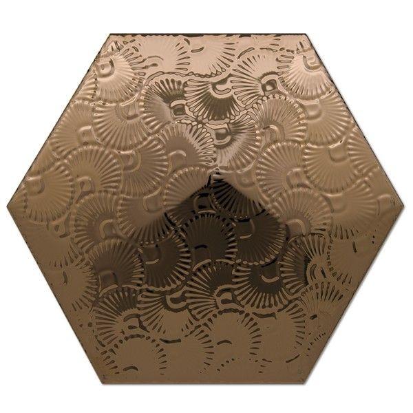Heksagon Piramidal - płytki ścienne Dec. Piramidal 2 Bronce 17x15