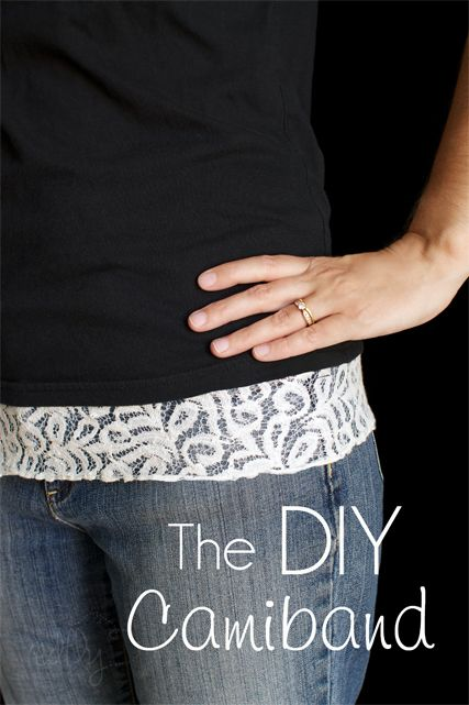 DIY Lace Camiband! This was so easy to make and it works great!