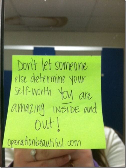 Operationbeautiful.com  Transforming the way you see yourself one sticky note at a time!!