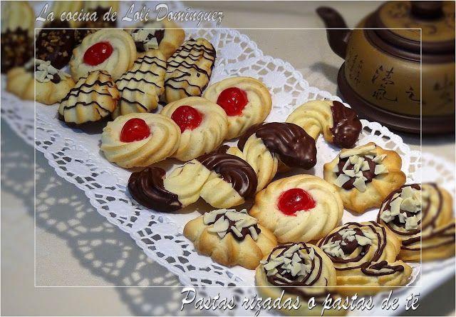 La cocina de Loli Domínguez: Galletas rizadas o pastas de té