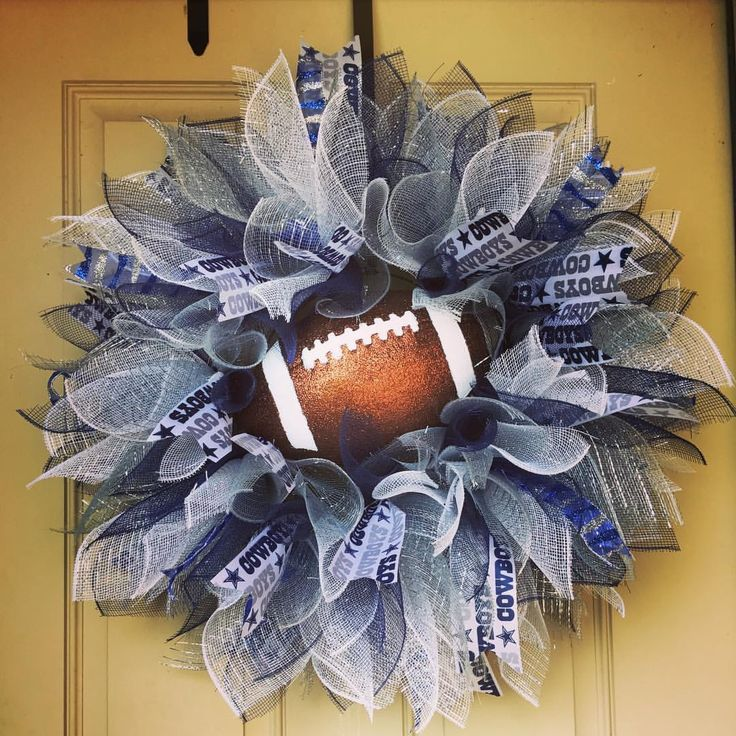 Starburst Dallas Cowboys wreath