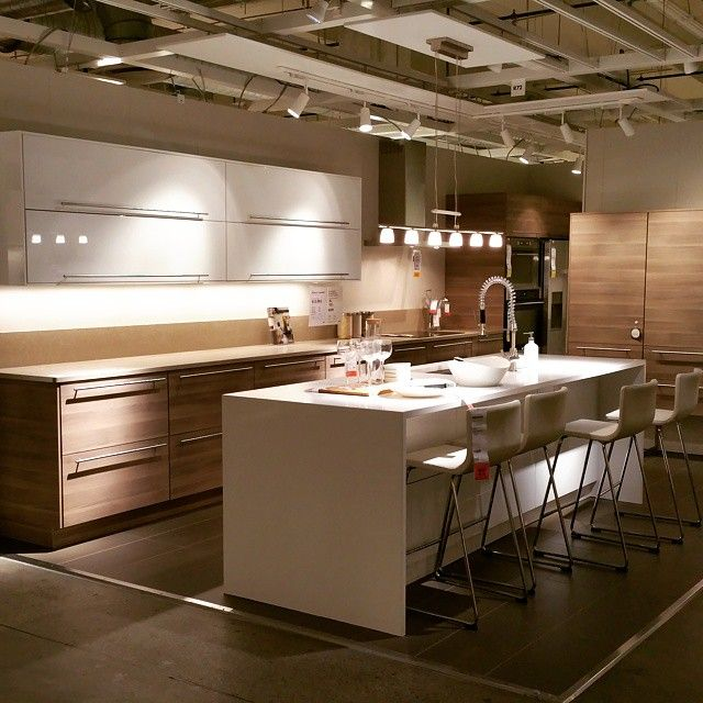 My favorite of them all! So sleek! #ikeakitchens #ikeasektion #sektion #ikeasektionlaunch #newkitchen