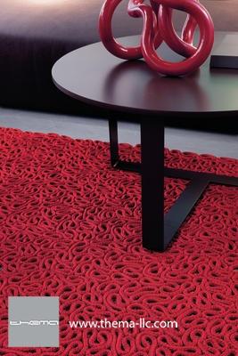 LOOPING floor rug