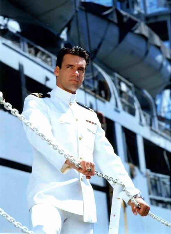 David James Elliott as Harm. Have I  LOVE of a man in uniform!