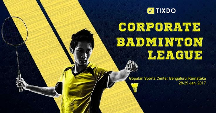 Tournament is exclusively for corporate players.Event will be held in Gopalan sports centre on 28th and 29th Jan. So shutdown your laptops for a weekend and play your passion in the play field. There is category for all to participate. Coaches and players working in sport management companies are not allowed strictly.  For more details and to book your ticket visit : https://tixdo.com/api/events/corporate-badminton-tournament/  #Corporate #BadmintonLeague #Play