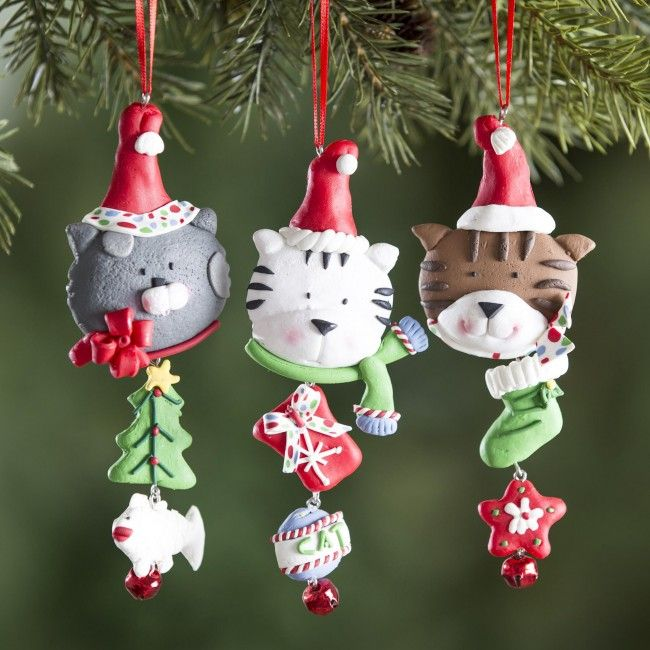 Decorate your Christmas tree with one of these Cat with a Hat ornaments.