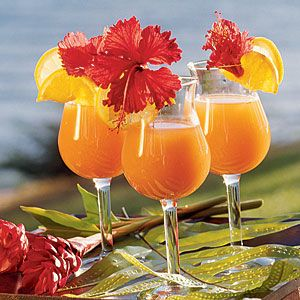 Kapalua Sunrise....nonalcoholic..passion, guava , cranberry, pineapple, and orange and apple juices