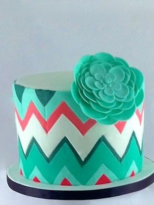 Top Chevron Cakes - Top Cakes -  I love the colors!