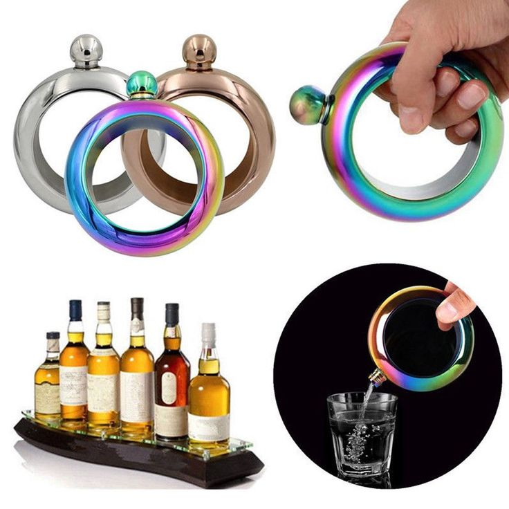 3.5Oz Stainless Steel Jug Bracelet Alcohol Hip Flasks Funnel Bangle Bracelet