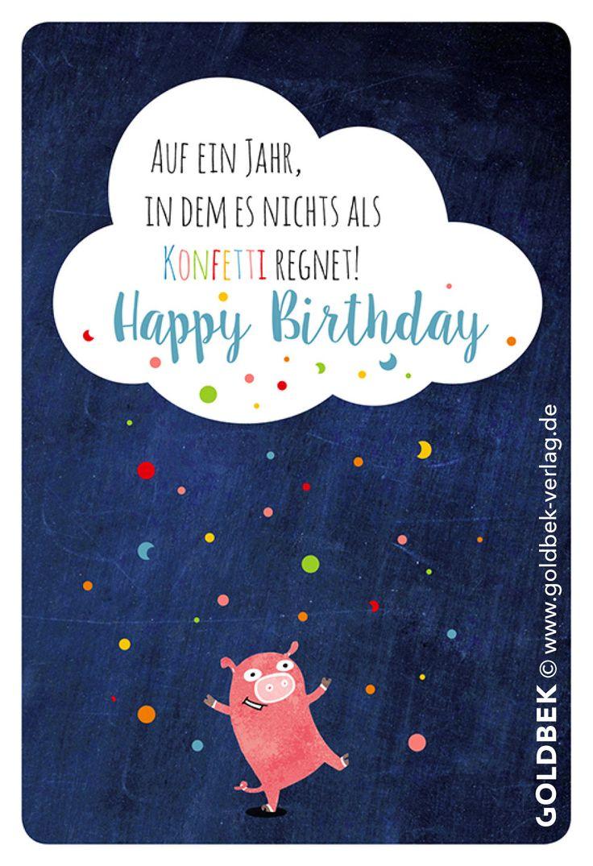 Postkarten - Geburtstag. Handgezeichnete Illustration. So niedlich, dass man es einfach verschenken muss ...