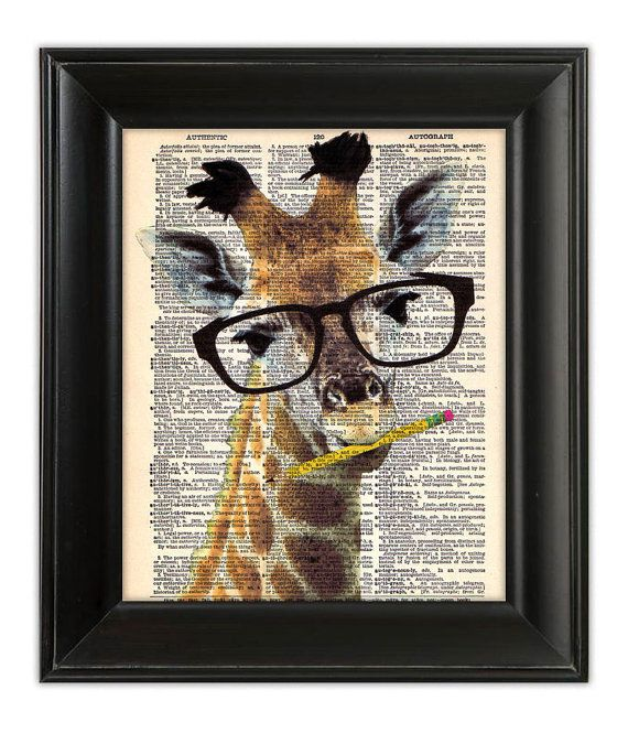 Combining two of my favorites - giraffes and reading!
