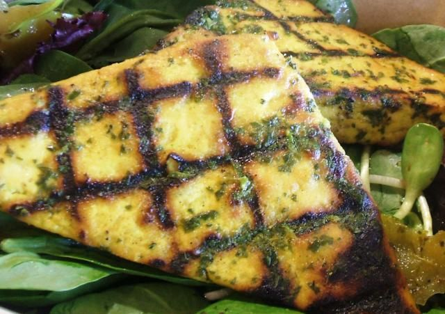 Tofu is marinated in a Mexican spiced cilantro and lime marinade and then grilled on your outdoor barbecue.