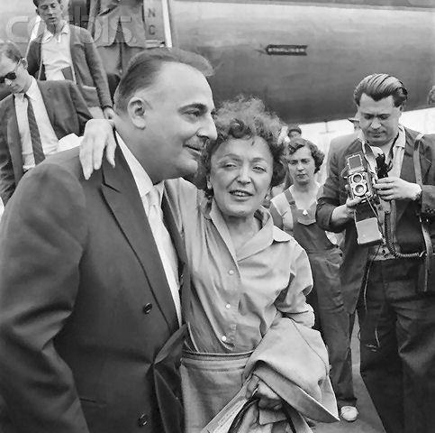 Edith Piaf with Bruno Coquatrix