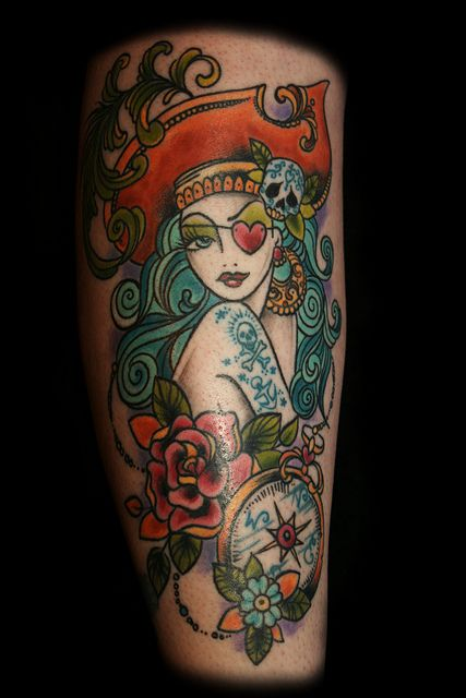 Painted Lady Tattoo