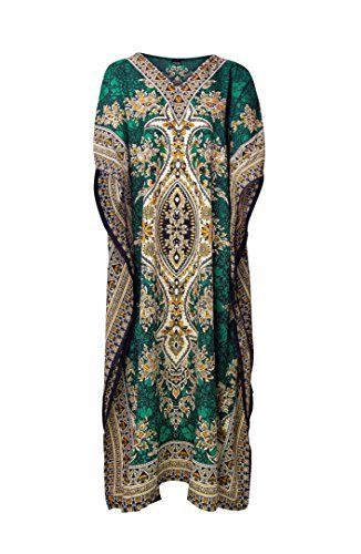 Product review for RK Essentials | Tribal Ethnic Print Long Kaftan | Plus Size.  - Rubina Kapoor's fabulous tribal ethnic,paisley design kaftan/maxi dresses are this seasons must have addition to your wardrobe. The beautifully illustrated pieces have been highlighted around the borders and neck line, giving the kaftan the versatility to wear in a variety of options....
