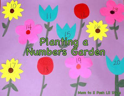 Planting a numbers garden {Mom to 2 Posh Lil Divas}: Flowers Gardens, Math Games, For Kids, Posh Lil, Practice Numbers, Numbers Games, Math Practice, Numbers Gardens, Lil Divas