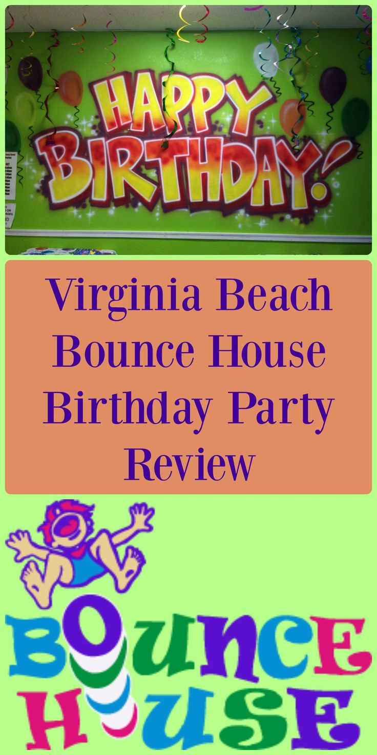 A Description Of Our Sons Birthday Party Held At The Virginia Beach Bounce House