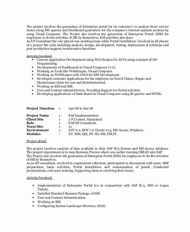 Java Production Support Resume Luxury Niveditay Resume