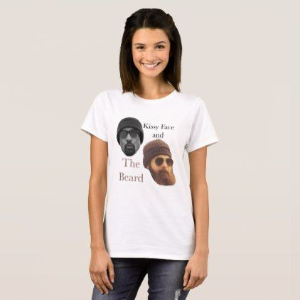 Kissy Face and The Beard T-shirt by Condors - consultant business job profession diy customize