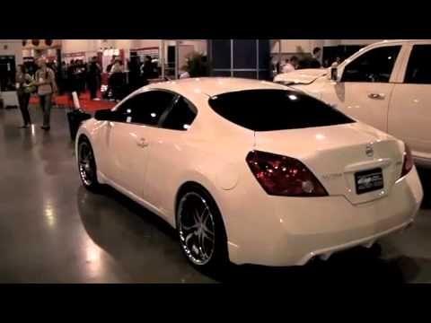 """Acewhips.NET- Female's White Nissan Altima Coupe on 24"""" Autonomo Forgiatos - YouTube"""
