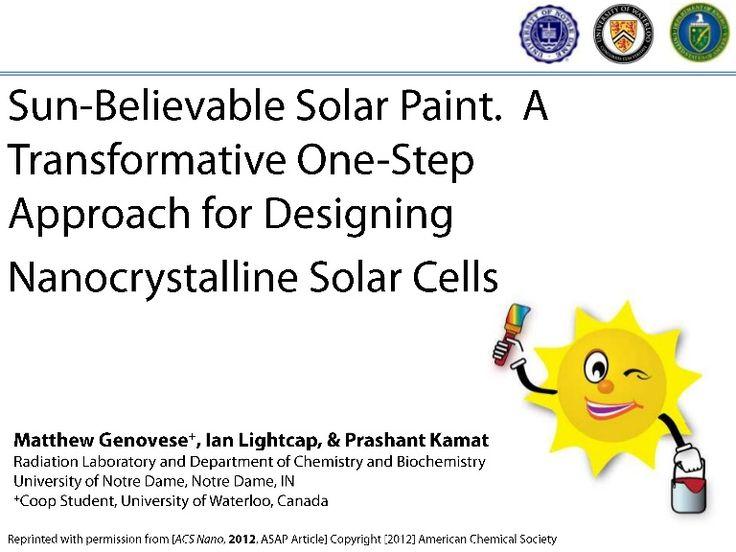 slideshare-solar-paint-10881513 by kamatlab via Slideshare 태양광 페인트