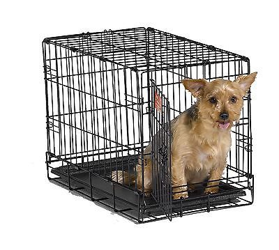 MidWest iCrate Folding Metal Dog Crate Single Door 22-Inch w/Divider