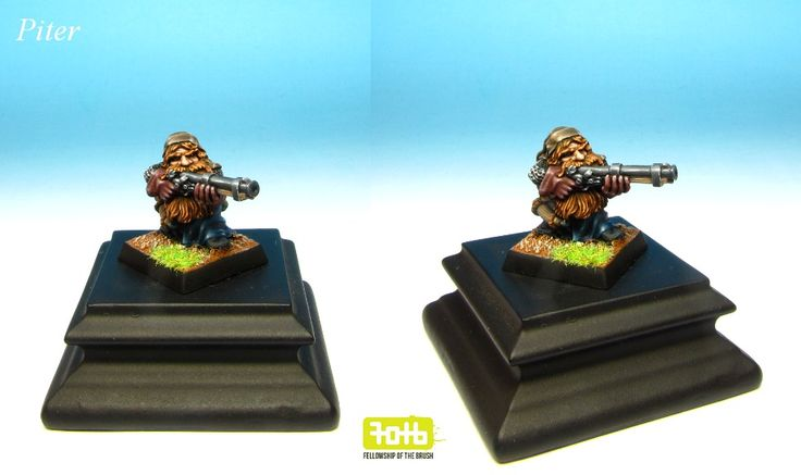 Dwarf Thunderer painted for private collection. #dwarf #warhammer #miniaturepainting