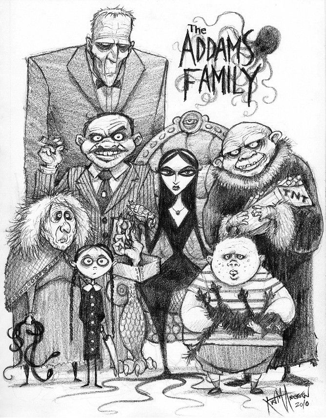 The Addams Family animated series by Hanna Barbera from 1973.... The best cartoon ever! drawn in adobbe ilustrator enjoy...