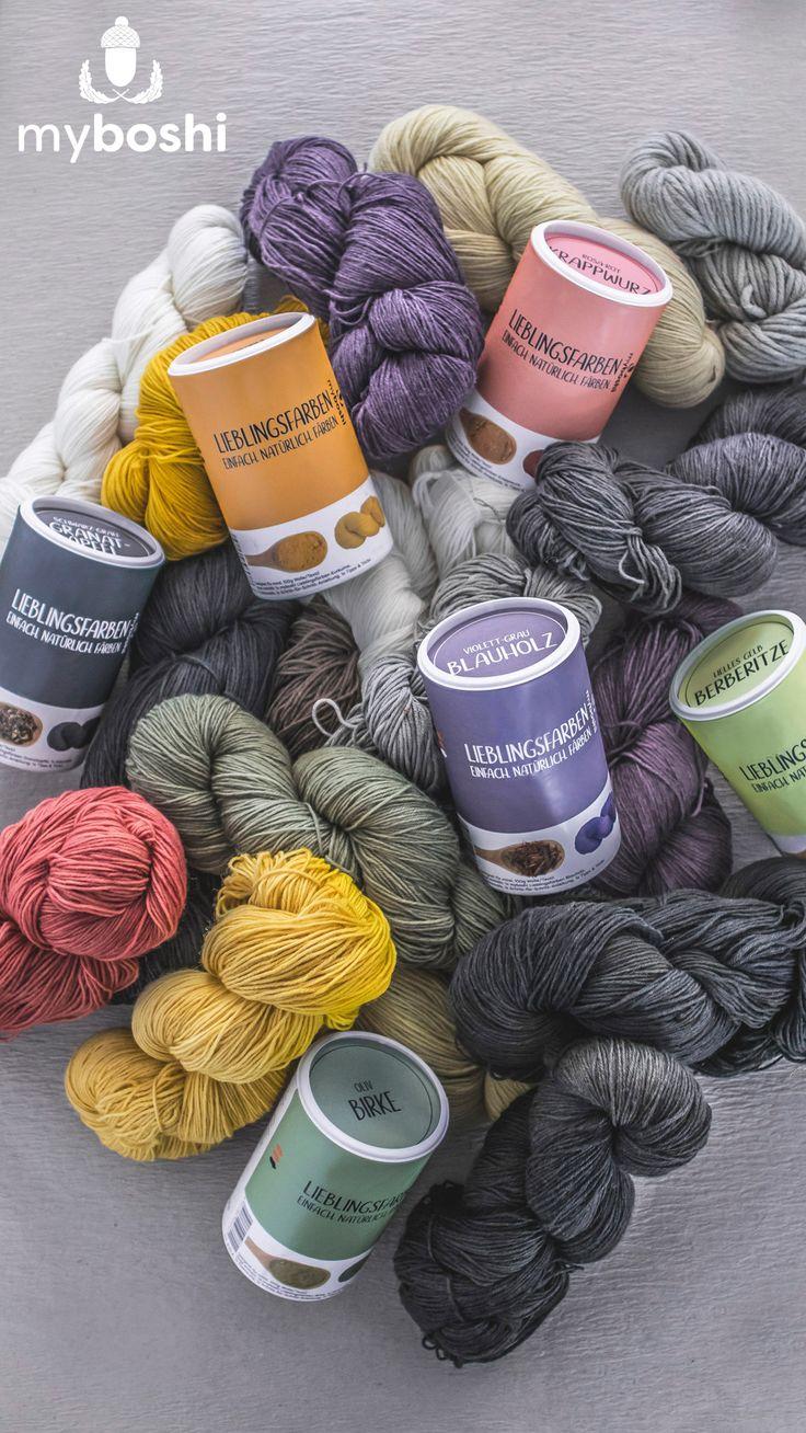 Natürlich gefärbte Wolle mit myboshi Lieblingsfarben