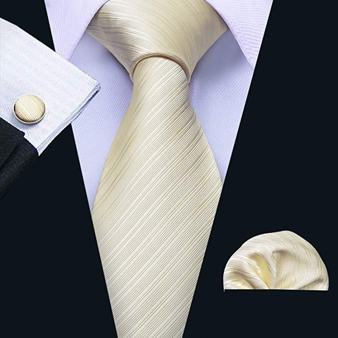 Striped Silk Tie Mens Business Formal Woven Wedding Groomsmen Party Necktie