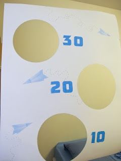 Paper plane party game - DIY airplane birthday