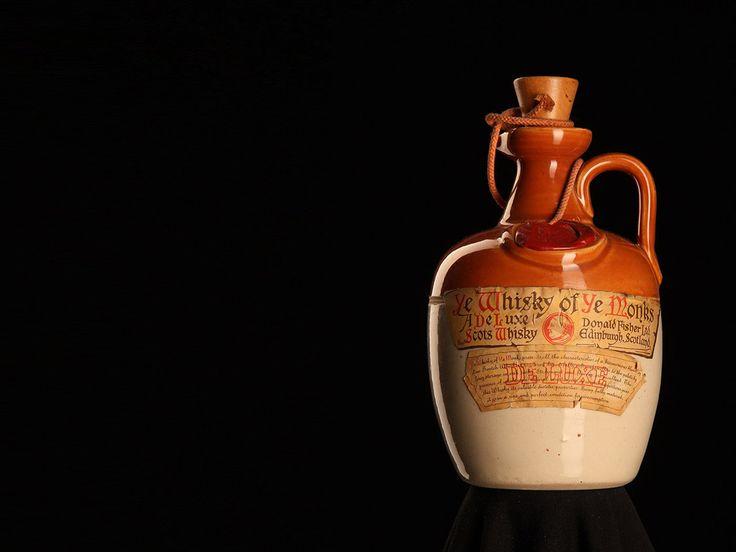 Old whisky bottle
