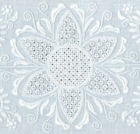 Schwalm Whitework Embroidery by Luzine Happel - this link is to her blog - she also sells books on how to do Schwalm