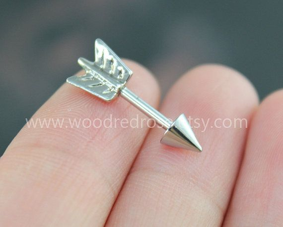 Arrow tragus piercing jewelry,Arrow post earrings,Silver Arrow Helix Cartilage jewelry