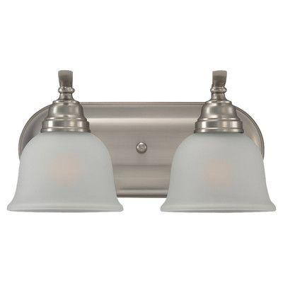 Darby Home Co Busti 2 Light Vanity Light Finish: Heirloom Bronze, Bulb Type: 13W GU24 Fluorescent