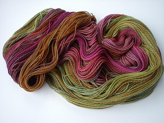 Handspun ~ Bucilla's Polwarth Top by Hedgehog Fibres ~ via Ravelry