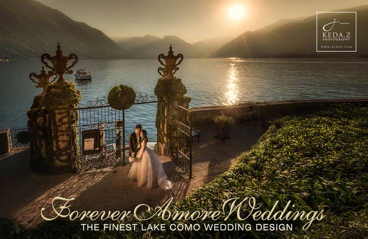 Sunset Lake Como Wedding at Villa Balbianello. Event by www.foreveramoreweddings.com Picture by www.kedaz.com #lakecomoexclusiveweddings  #weddingvillabalbianello #foreveramoreweddings #foreverlove #weddingslakecomo