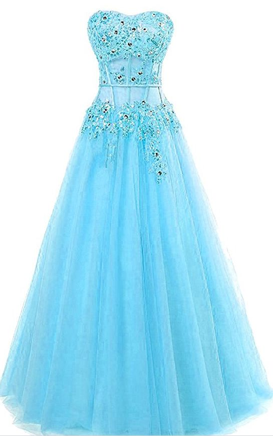 Women's Beaded Evening Party Ball Gown Sequins Appliques Formal Prom Dresses Long H100