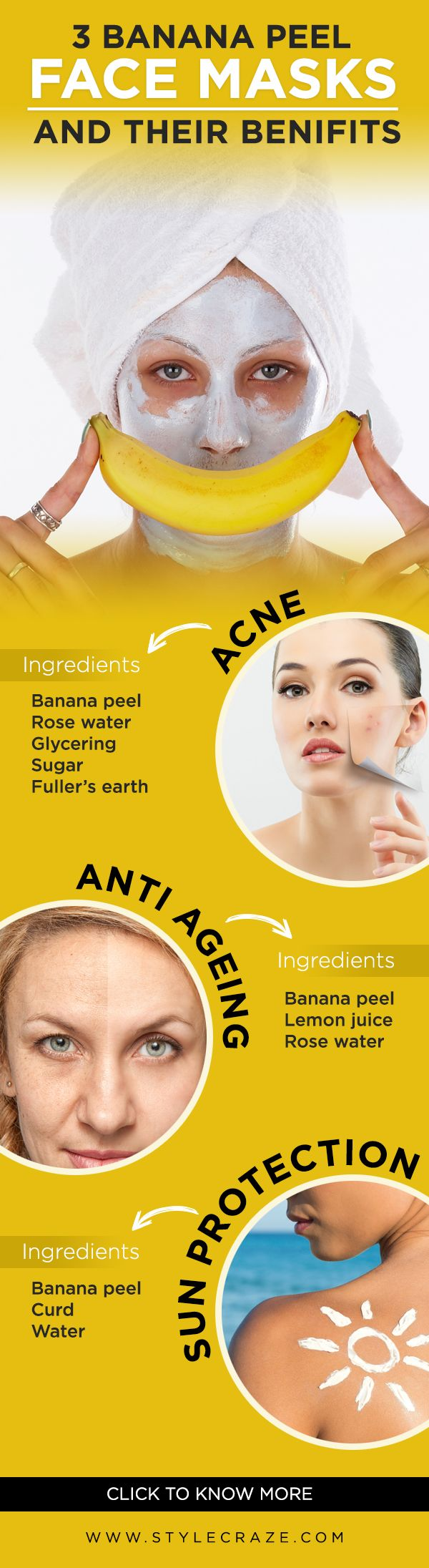 Types Of Banana Peel Masks And Their Benefits #facemasks