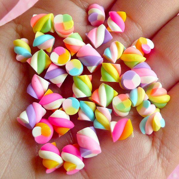 Miniature Marshmallow Mix (Colorful) (36pcs) Kawaii Fake Candy Polymer Clay Fimo Miniature Sweets Dollhouse Candy Cabochon CMX005. $5.45, via Etsy.