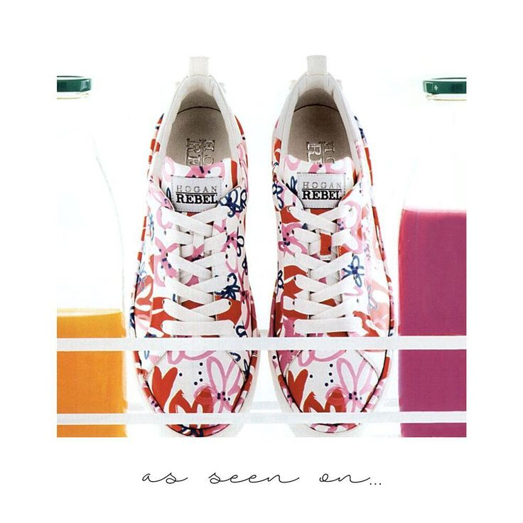 Colorful #HOGAN #H320 #sneakers as featured in @glamouritalia