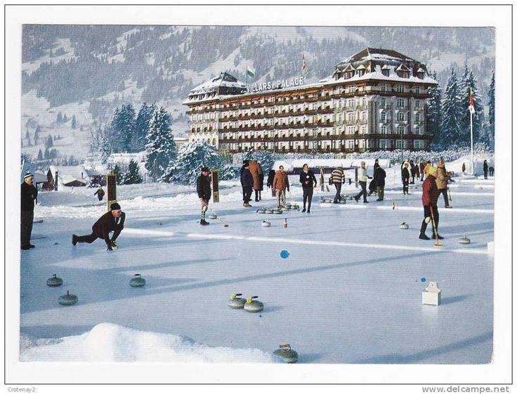 Suisse Villars sur Ollon Le Villars Palace et sa Place de CURLING