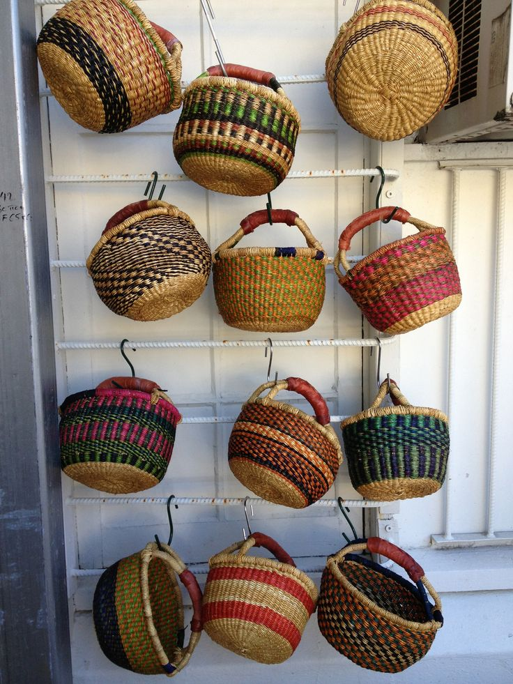 Smaller style elephant grass baskets.