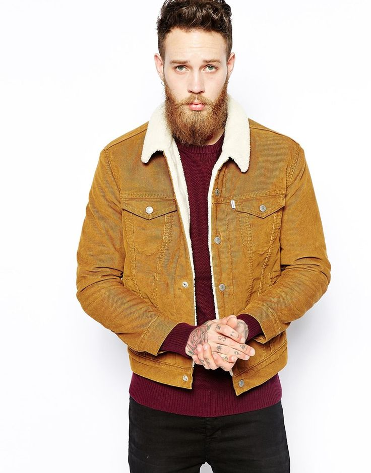 levis levis cord jacket type 3 trucker jacket fully lined sherpa brown winter is coming. Black Bedroom Furniture Sets. Home Design Ideas