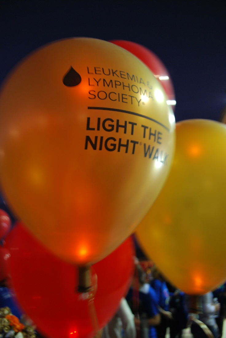 """Light the Night"" walk from the Leukemia & Lymphoma Society. This event raises more than $50,000,000."
